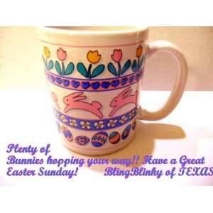 Easter Eggs Frosted Candy Floral Coffee Mug Cup Cocoa: Everything Else