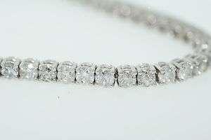 14k White Gold 4.67ctw Round Diamond Tennis Bracelet 2.8mm 7.5