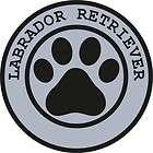 1x LABRADOR RETRIEVER PAW PRINT SEAL TRACK FUNNY STICKER DOG PET DECAL