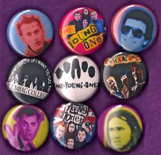 YOUNG ONES Pins Buttons Badges bbc punk tv Set of 9