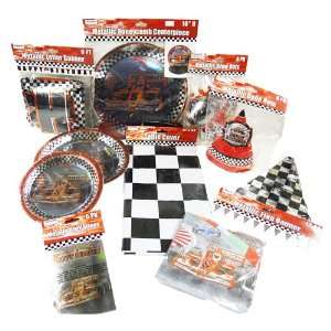 Mega Race Car Party Set   10 Assorted Parts Toys & Games