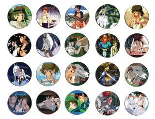 のけ姫 anime pin button BADGE/ MAGNET SET ( 20 badges )