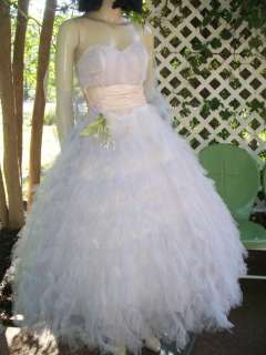 LAVENDER Tulle STRAPLESS Wedding Bridal PROM Dress PAGEANT XS/S