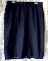 ELISABETH Liz Claiborne Career Wool Navy Blue Fully Lined Career Skirt