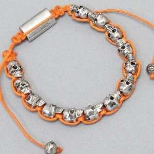 NEW Shambala Unique Adjustable Shamballa Skull Bracelet *Fast Free