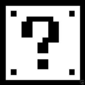 Mario mystery box game wii decal car window sticker
