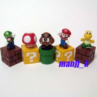 NEW Super Mario Bro figure 1 set 5