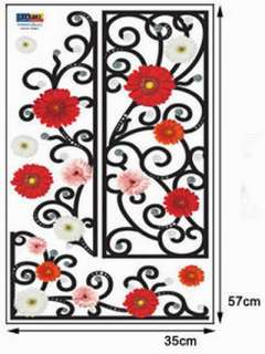 SS#11 Flowers, Decals Home Art Decor Wall Vinyl Sticker