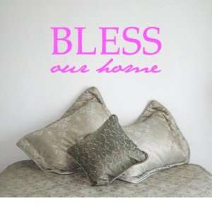 BLESS OUR HOME   Christian God Family Design   Vinyl Wall Room