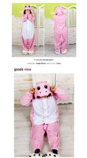 Character Costume Cosplay Pajama Halloween Party*Pink Hippo*NEW