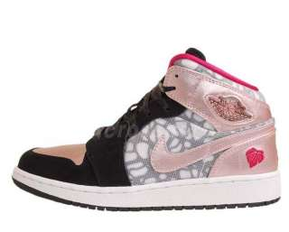 Air Jordan 1 Phat GS Valentines Day Black Pink Cherry AJ1 364781 019