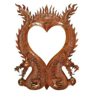 Bali Wall Deco~Wood Carving~Dragon Sculpture~Antique