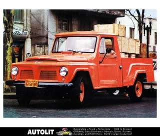 1966 Willys Jeep Pickup Truck Factory Photo Brazil