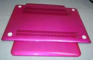 PINK Hard case shell Keyboard skin cover Screen protector 3n1