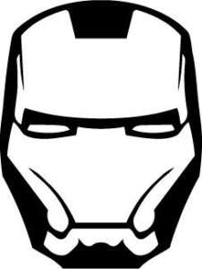 iron man face mask sticker car decal
