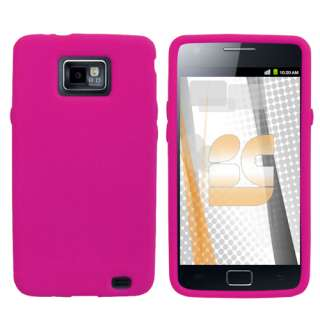 Galaxy S2 AT&T CELL PHONE RUBBERIZED PINK SKIN COVER CASE