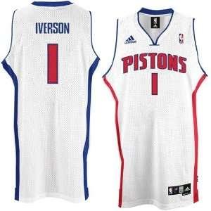 Allen Iverson #1 Detroit Pistons Swingman NBA Jersey White