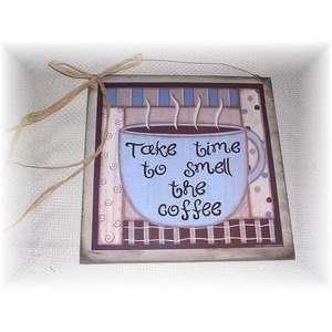 Coffee Wooden Kitchen Wall Art Sign Cafe Decor Signs Art Home