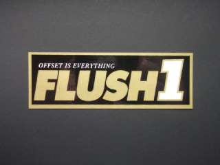FLUSH 1 Offset is Everything gold decal bumper sticker
