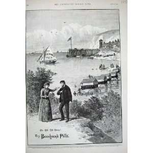 1890 Advertisement Beechams Pills Worlds Medicine Boat