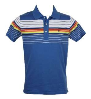 French Connection FCUK Mens Polo T Shirt Blue & Pink