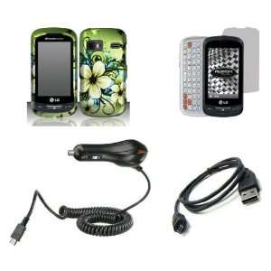 LG Rumor Reflex   Premium Combo Pack   Green Hibiscus Flower and Black