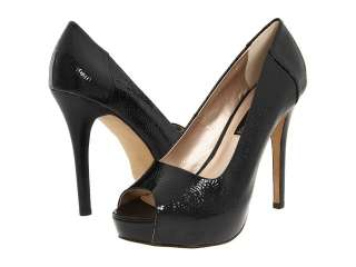 STEVE MADDEN Peeper BLACK Platform Pumps Shoes Heels Patent Peep Toe