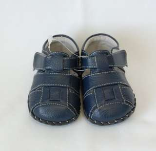 Pediped Infant Baby Boy Crib Shoes Sandals Blue Leather Harvey size 0