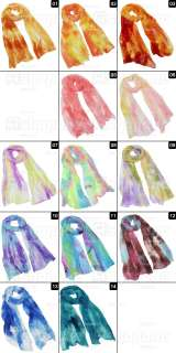 Girls Womens Colorful Mixed Candy Colour Long Soft Scarf Wrap Shawl