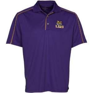 LSU Tigers PGA TOUR Mens Piped Polo Shirt Sports