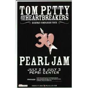 Tom Petty Pearl Jam Denver 2006 Concert Poster