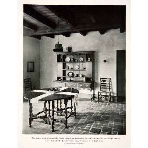 1926 Print Dinning Room Cottage Interior Table Charles