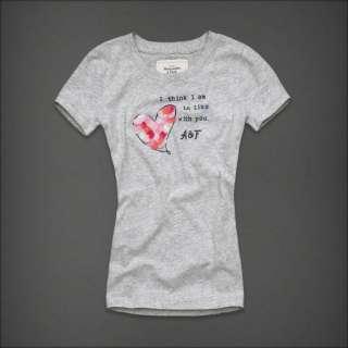 NWT Abercrombie Women Morgan Graphic Tee T Shirt Top