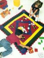 FLOWER POWER Childs Afghan /Crochet Pattern