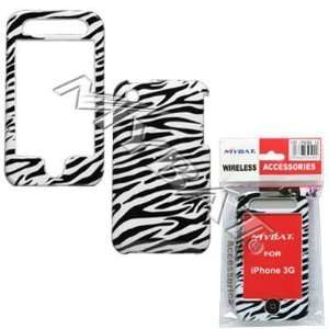White Stripes Zebra Skin Animal Design Snap On Cover Hard Case Cell