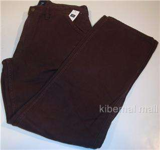 NWT~GAP Mens Textured Pant Straight Fit 5 Pocket Zip Fly Dark Brown