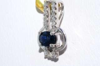 65CT BLUE SAPPHIRE & DIAMOND 2 ROW PENDANT WOW