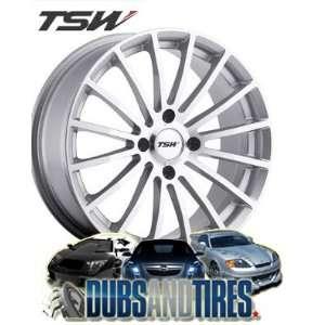15 Inch 15x6.5 TSW wheels MALLORY Silver wheels rims Automotive