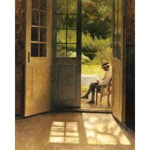 painting reproduction size 24x36 Inch, painting name: The Open Door