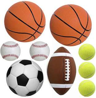20pc sports play ball wall stickers kids cutouts soccer free economy