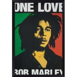 Bob Marley  One Love  Framed Poster Home & Kitchen