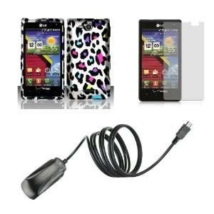LG Lucid (Verizon) Premium Combo Pack   Rainbow Leopard on