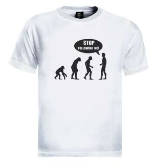 Stop Following Me Evolution T Shirt funny monkey humen