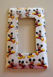 Colorful Mickey Mouse GFI Rocker Cover Plate