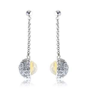 Meryl Swarovski Crystal Earrings   Gold Jewelry