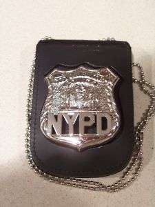 NYPD Officer Style Badge Cut Out/ID Card Neck Hanger