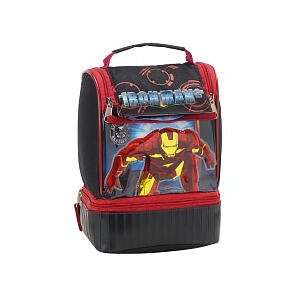 Iron Man 2 Sprinting Dual Compartment Lunch Box   Black