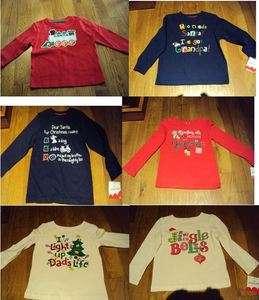 Boys Girls Jumping Beans Brand Xmas Christmas Dads Grandpa Grandma Top
