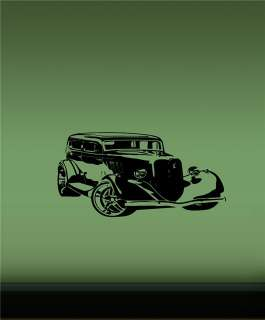 VINYL STICKER DECAL MURAL CLASSIC OLD MUSCLE CAR HOT ROD T53