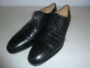 Cap Toe Mens Black Leather Dress Shoes 11 D